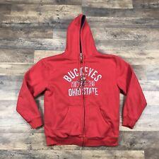Ohio State Buckeyes Sherpa Lined Hoodie Sweatshirt Jacket Columbus Men's Large