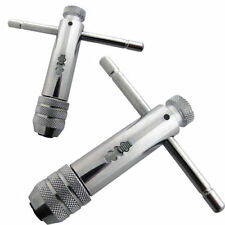2PC REVERSIBLE T BAR HANDLE RATCHET TAP WRENCH M3-M8 & M5-M12 FOR TAP & DIE SET