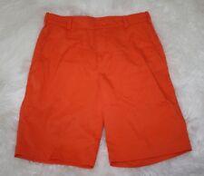 Nike Golf Tour Performance Dri Fit Mens Bright Orange Casual Shorts Size 30 x 11