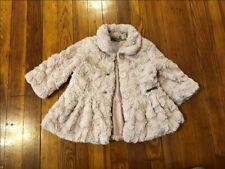 Calvin Klein Jeans Light Pink Faux Fur Toddler Girls Coat Jacket 18 Months
