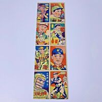 1940's  Japanese Baseball Vintage Rare Menko sheet Card Uncut Sheet