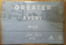 "2017 Boston Marathon Official Adidas Running Poster ""Greater Every Mile"""