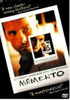 Memento DVD 2001 Guy Pearce Carrie-Anne Moss Joe Pantoliano Widescreen G