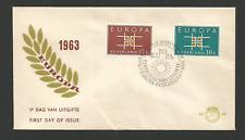 FDC - 1er jour 1963 EUROPA Pays-Bas Nederland /L1106