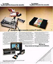 PUBLICITE ADVERTISING 055 1976  SONY   vidéo cassettes  couleur U-MATIC