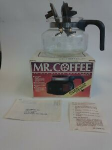 Vintage Mr Coffee replacement pot Model D7A Glass 10 cup Fits several brands USA