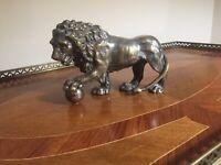 Antique Bronze/Spelter Lion Statue/Sculpture 7 Inches Long