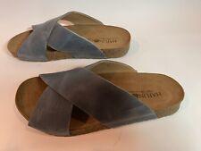 Haflinger Bio Mio Leather Sandals Anatomical Cork Footbed Germany Size 39 Blue