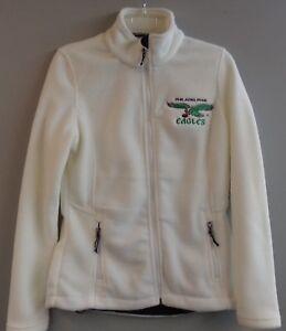 Philadelphia Eagles Vintage Logo Ladies Embroidered Fleece Jacket XS-4XL New