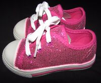 NEW GIRLS PINK SHOES SPARKLE SEQUIN SIZE 5 EUR 21.5 MARKS & SPENCER CASUAL