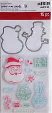 Recollections Christmas Clear Stamp & Die Set SANTA & SNOWMAN