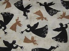 """Timeless Treasure-""""TOSSED ANGELS"""". 100% Cotton,Christmas Fabric by the Yard."""