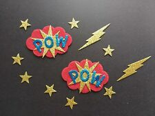 superhero glitter die cuts craft embellishments Card toppers buntings box frames