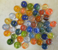 8348m 45 Hybrid Cat's Eye Marbles Vintage Group or Lot .61 to .64 Inches