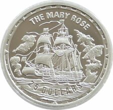 2005 Legendary Fighting Ships Mary Rose $25 Dollar Silver Proof 1oz Coin