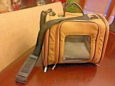 Marshall Pet Designer Ferret Tote Faux Suede Tan Carrier Small Animal Nice!