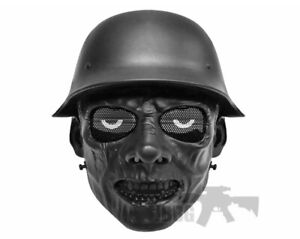 Black Airsoft Paintball ABS Full Face  Zombie Mask Simple practical