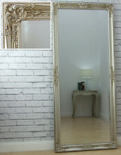 Eton Champagne Silver Vintage French Full Length Wall Leaner Mirror 157cm X 68cm