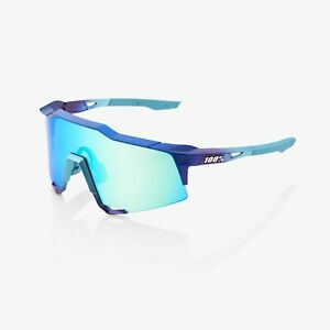 100% Speedcraft Sunglasses Matte Metallic-Topaz Blue Multilayer Mirror Lens