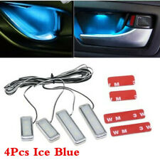 Car Inner Door Bowl Handle Ice Blue Decor Lamp LED Ambient Atmosphere Light 4Pcs