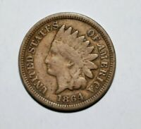 1864 Indian Head Cent Penny  -  nice example