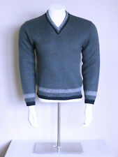 vtg 50s ATOMIC spaceage psychobilly HIGH ROCKABILLY 2 tone wool mohair sweater
