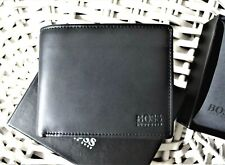 Men's Leather Wallet 'HUGO BOSS'ASOLO Bifold,BLACK,Coin Pouch,Gift Box,50250331