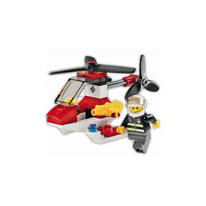 FIRE HELICOPTER, Lego 4900, CITY: FIRE, Audited & 100% Complete!
