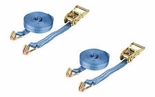 PAIR 1500kg 25mm x 8m Heavy Duty RATCHET STRAP Tie Down 1.5 Ton (1875kg webbing)