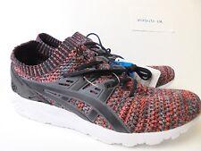 ASICS men's GEL-KAYANO knit athletic shoes HN7M4 RED GREY sz 11 NEW!