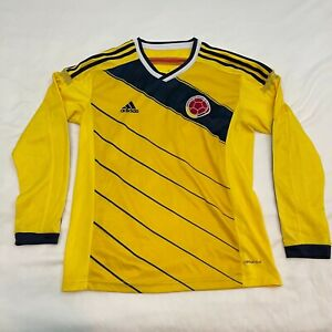Adidas Climacool Long Sleeves Colombia Footbal Jersey Yellow, see measurements