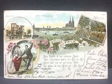 1906  postcard GRUSS aus COLN [Koln, Cologne] Germany...beautiful river scene,