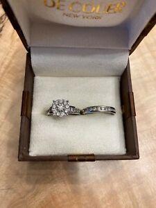 Gorgeous Engagement and Wedding Band Set size 6