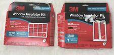 3M Window Film Insulator Kit Lot Indoor XL Window Patio Door Lot of 2