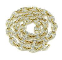 Men's Bling Gucci Mariner Link Choker Necklace 14K Gold Finish (16-30'') Hip Hop