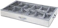 Interdesign Aldo 12S organizador bajo cama tela gris 91.44x53.34x12.70 cm
