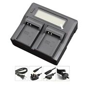 New LCD Dual Battery Charger For EN-EL23 ENEL23 Coolpix S810C P600 Cameras High