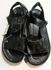 Easy USA Men's  Leather Sandals Black
