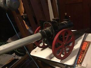 Vintage 155mm 24 in Long Conestoga Big Bang Carbide Cast Metal Cannon Used