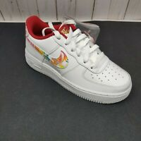 Nike Air Force 1 4.5y GS 2020 CNY AF1 White Red Muiti Kid Women sz 6 CU2980-191