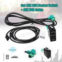 AUX USB Car Socket Switch Audio + Cable For BMW E60 E61 E63 E64 E87 E90 E70 F25