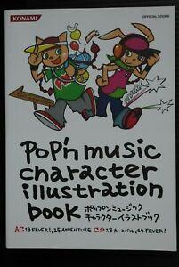 JAPAN Pop'n Music Character Illustration Book AC CS FEVER (Book)