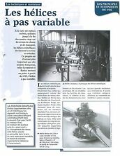 Hélice Ratier à Pas Variable Atelier Levasseur Armstrong-Siddeley  FRANCE FICHE