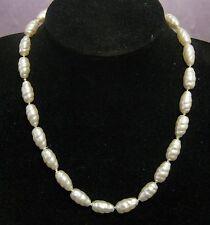 Gran Collar estilo de Perlas de Imitación con Estilo Trenzado a los granos Aprox 44cm de largo