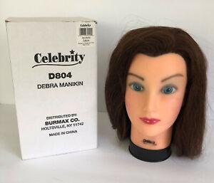 CELEBRITY DEBRA MANIKIN  D804 Brown Human Hair in original box
