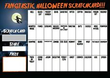 40 NAME HALLOWEEN THEMED FUNDRAISING SCRATCHCARD CHARITY EVENT NOT FOOTBALL TEAM