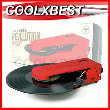 CROSLEY REVOLUTION COMPACT PORTABLE TURNTABLE DIGITAL USB ENCODING (REFURBISHED)