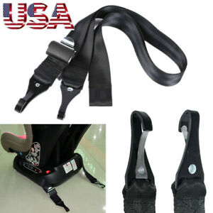 High strength Polyester+Steel Double-Hooks ISOFIX Latch Connector Fixing Strap