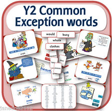 Y2 COMMON EXCEPTION WORDS SPaG primary teaching resources IWB display cards CD