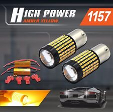 2x 1157 High Power 750LM 3014 LED Amber Yellow Tail/Turn Signal Lights+Resistors